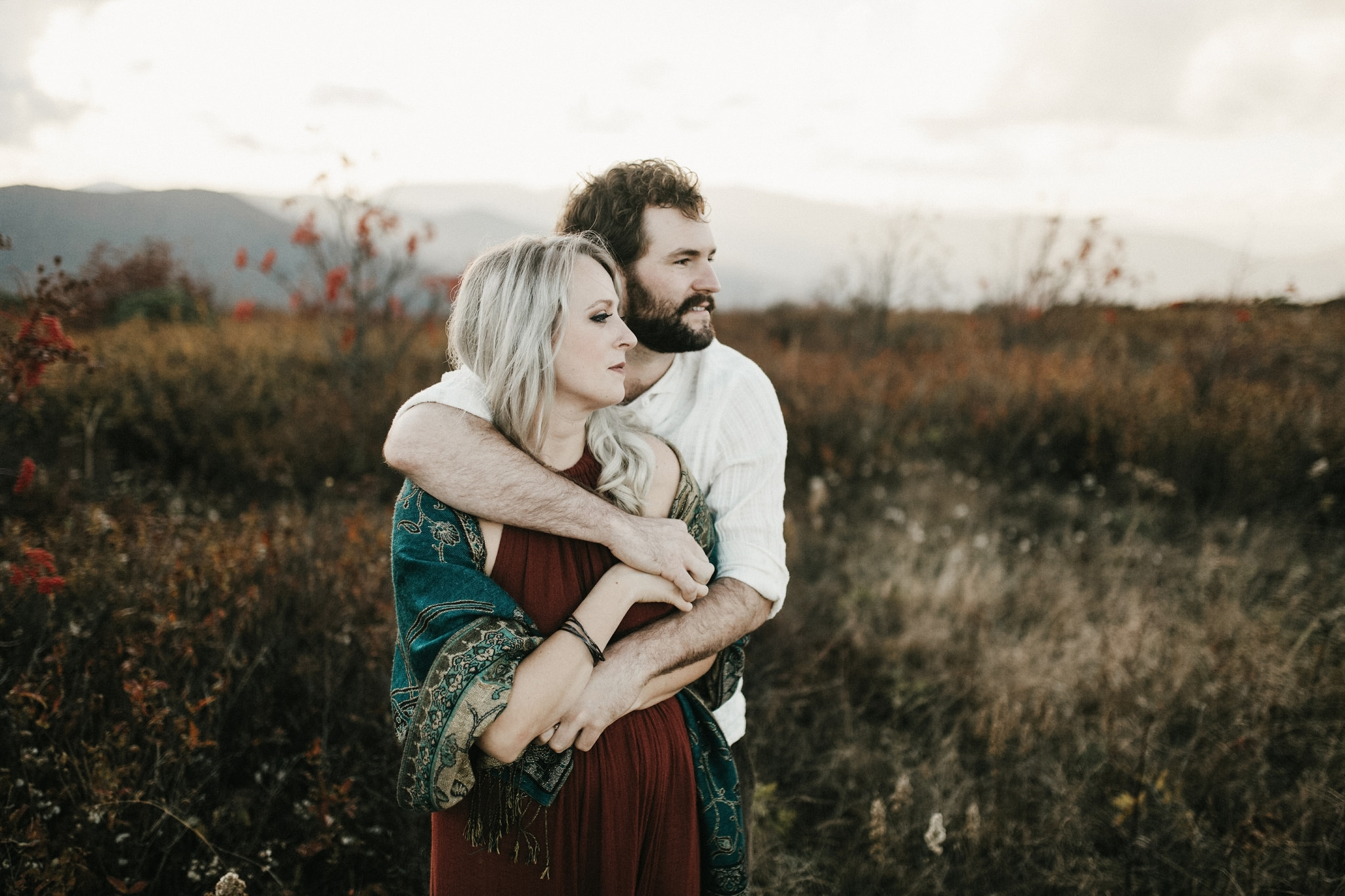 asheville adventure engagement