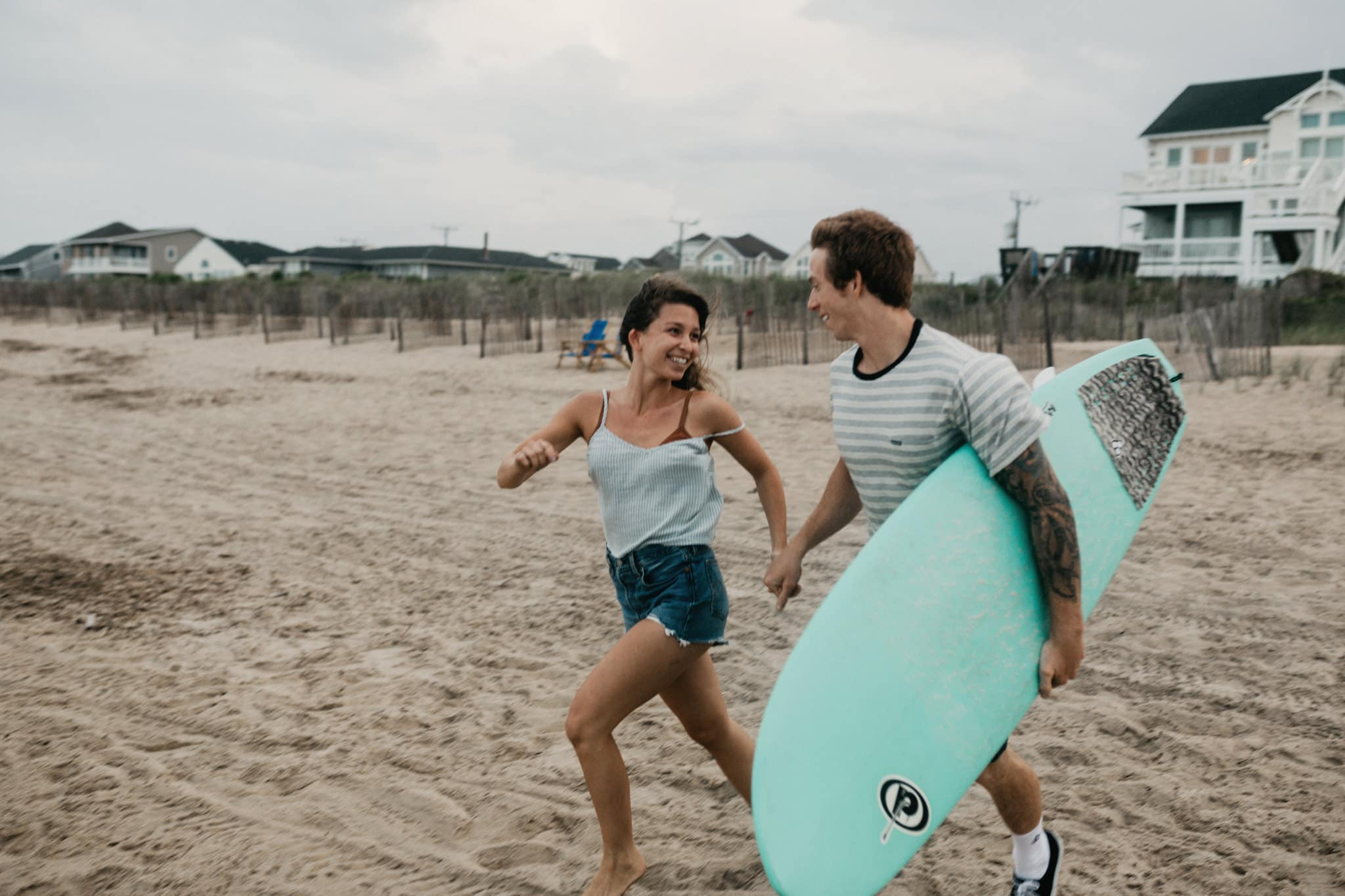 surfing engagement photos